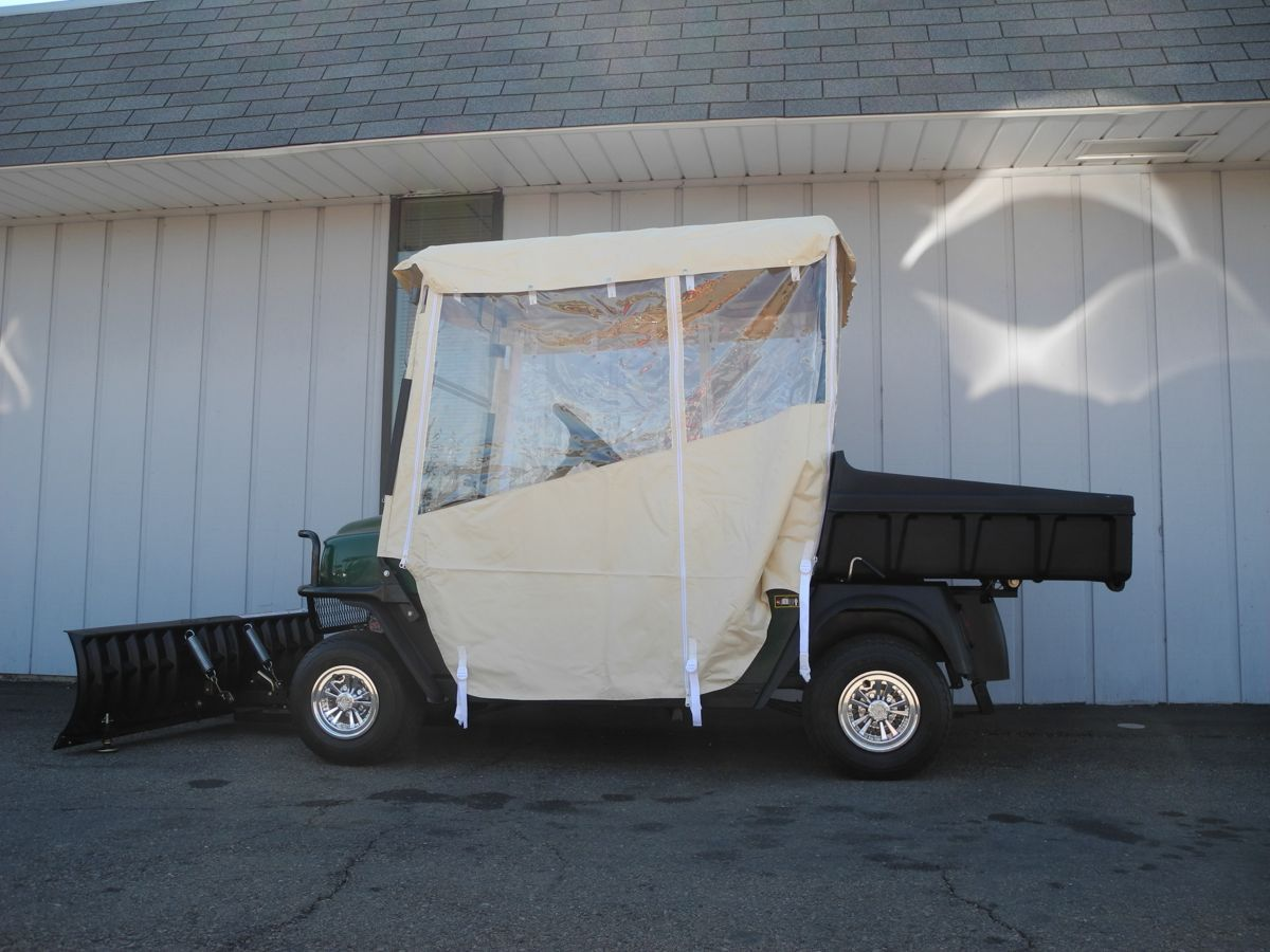 This 2009 EZGO MPT 800 electric golf car with front