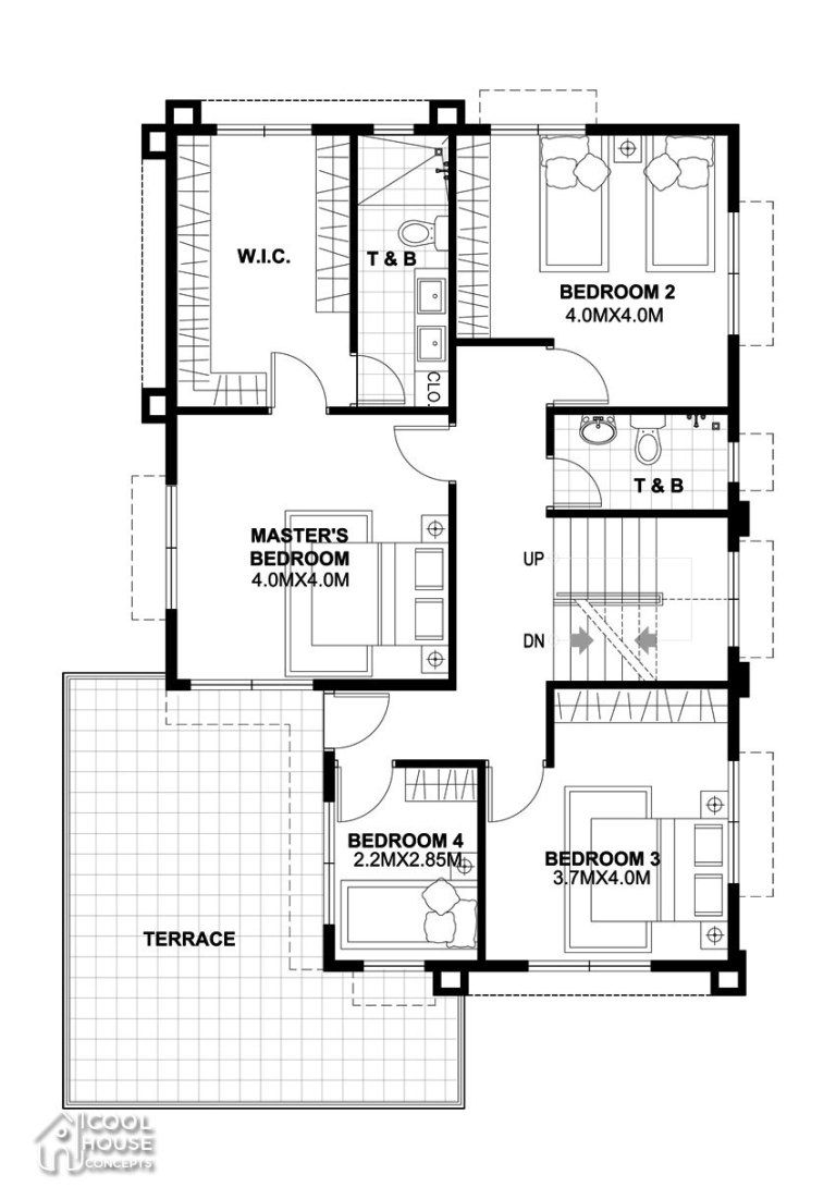 Home Design Plan 13x18m With 5 Bedrooms Modern House Plans Home Building Design Modern House Floor Plans