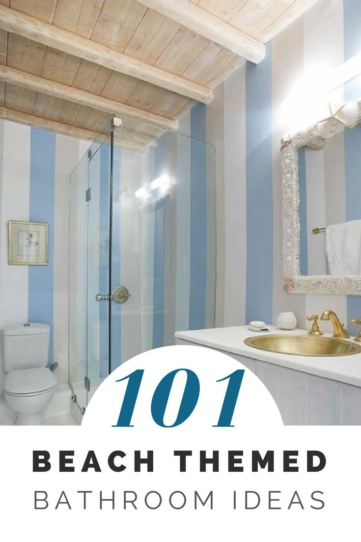 101 Beach Themed Bathroom Ideas Beachfront Decor Beach Theme Bathroom Bathroom Remodel Cost Beach Bathroom Decor