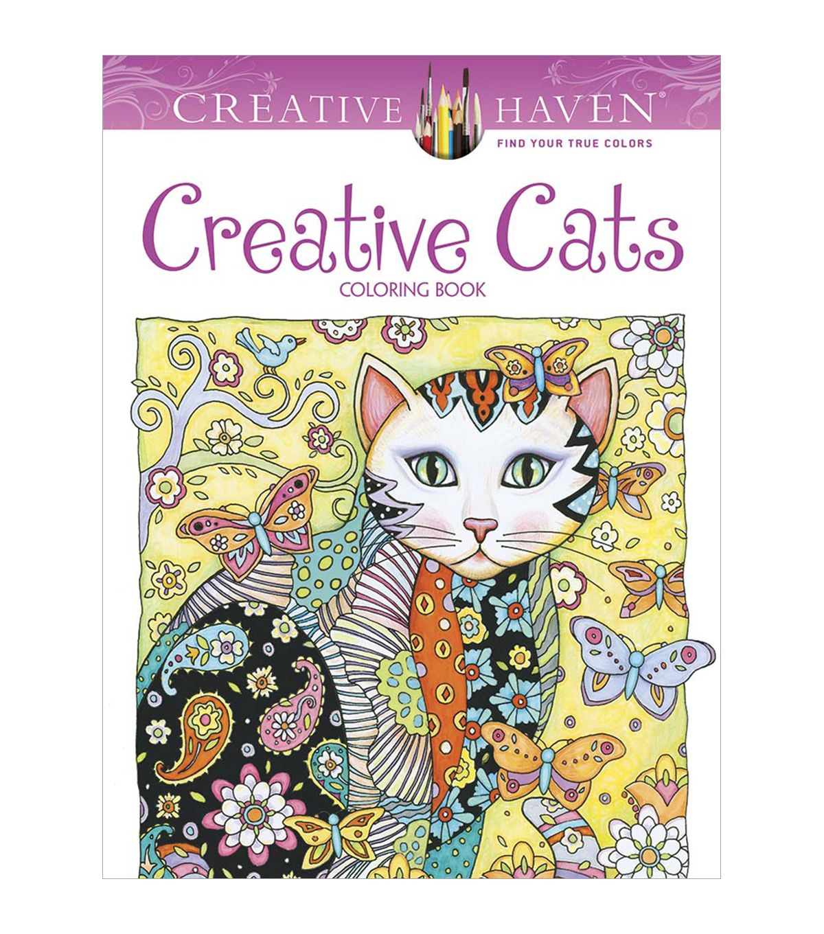 Stress relieving cats coloring - Creative Cats Coloring Book
