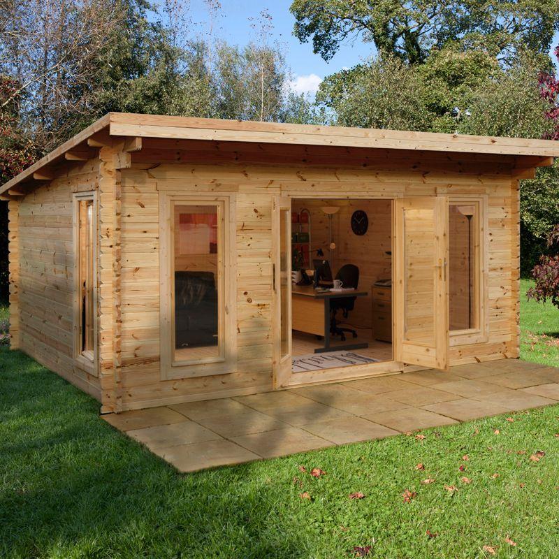 Forest Mendip 5m X 4m Log Cabin Garden Room 44mm Buy Sheds Direct Garden Log Cabins House Roof Cottage Plan