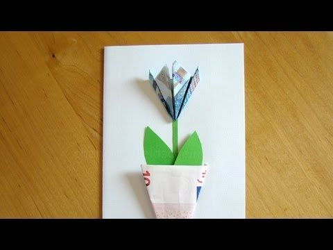 Geldschein Falten Blume Einfache Geldgeschenke Basteln Z B Fur