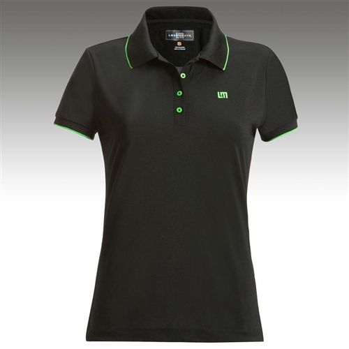 6105ce7cb5 Womens Golfing Shirts by Loudmouth Golf - Border Black w Green Tipping. Buy  it   ReadyGolf.com