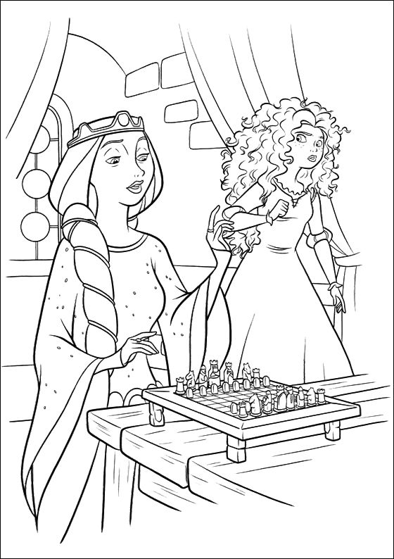 Merida Do Not Want To Play Chess Coloring Pages   Disney   Pinterest ...