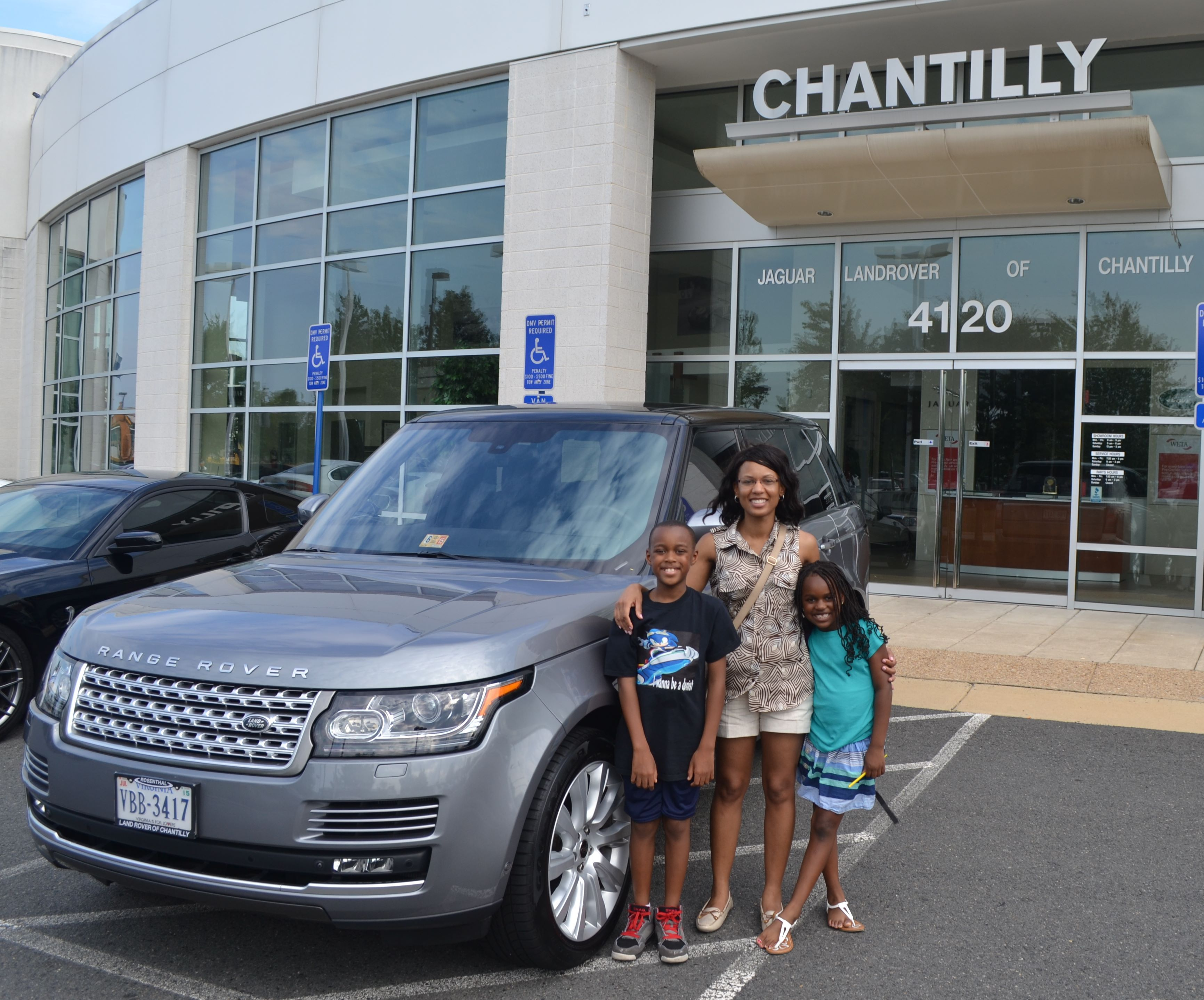 Congratulations Tamesha on the purchase of your new RANGE ROVER! The
