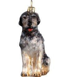 Irish Wolfhound Dog The Pet Set Blown Glass European Christmas