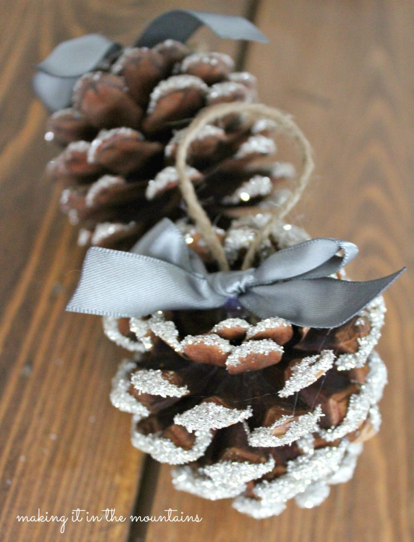 Glass Glitter Pine Cones Making It In The Mountains Christmas Pine Cones Pinecone Crafts Christmas Cones Crafts