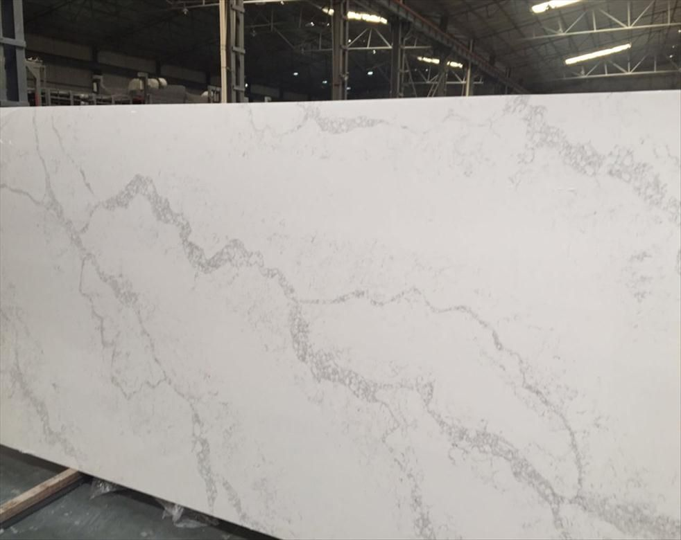 Calacatta White Quartz The Most Beautiful Marble Looking Quartz Slabs And Countertops Matching Marble Countertops White Quartz Countertop Granite Countertops