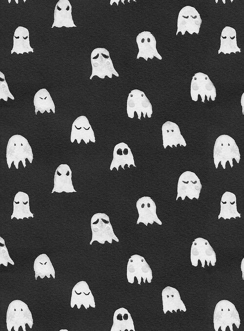 Ghost Wallpaper Cute Black Wallpaper Halloween Wallpaper Fall Wallpaper