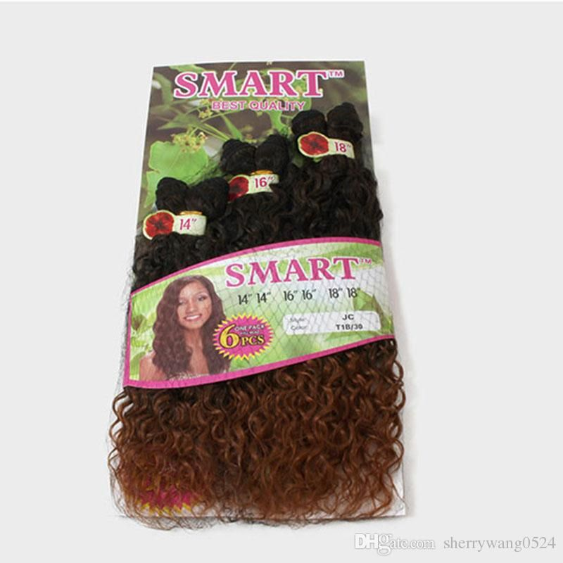 2tone Ombre Remy Hair T1b30 Kinky Curly Weave Synthetic Hair