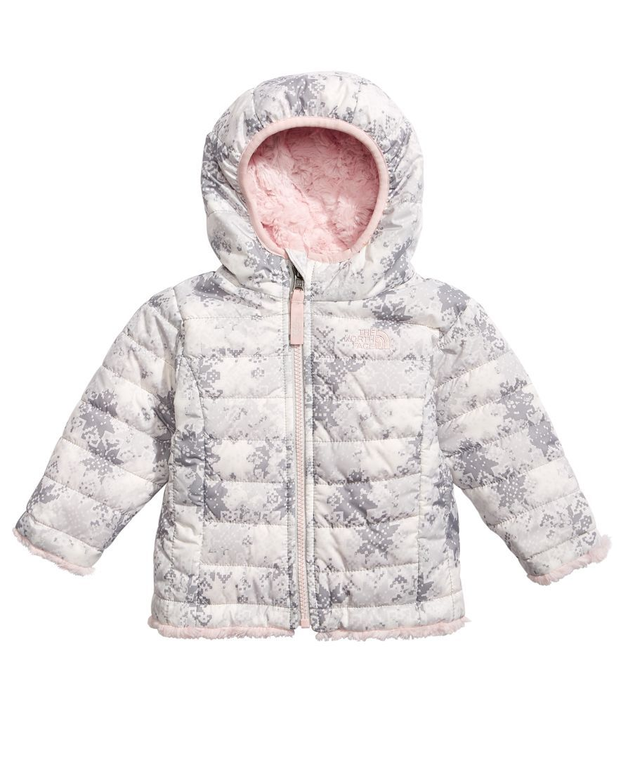70cbe0791 The North Face Snowflake Fair Isle-Print Hooded Reversible Puffer Jacket,  Baby Girls (0-24 months)