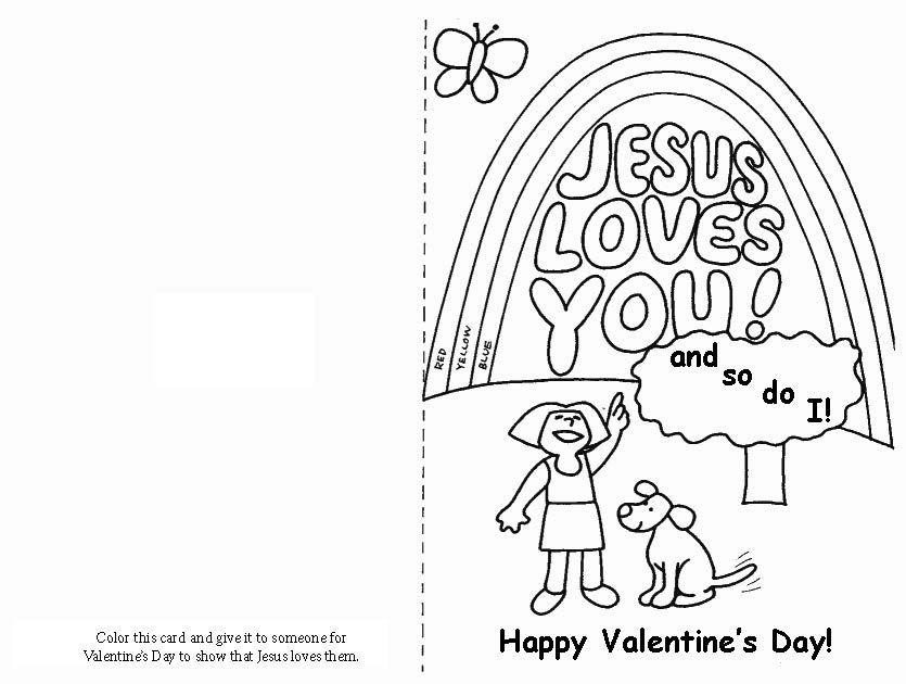 Valentine S Day Jesus Loves You Card Love Coloring Pages