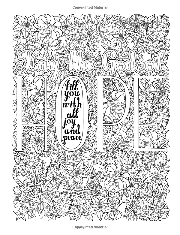 A Christian Colouring Book: Joy to the World: A Christmas Coloring ...