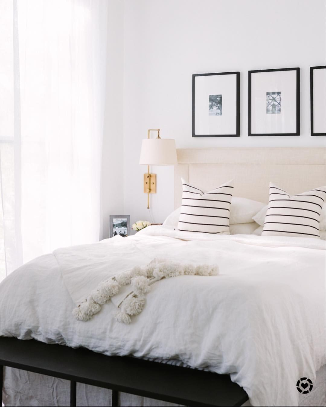 Master bedroom gallery wall  Pin by Nicole Cernich on At Home  Pinterest  Bedrooms Master