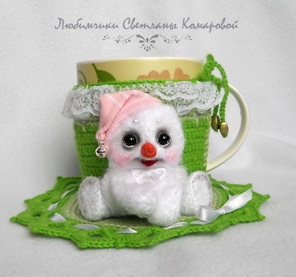 Снеговик(чехол на кружку) - Ярмарка Мастеров - ручная работа, handmade