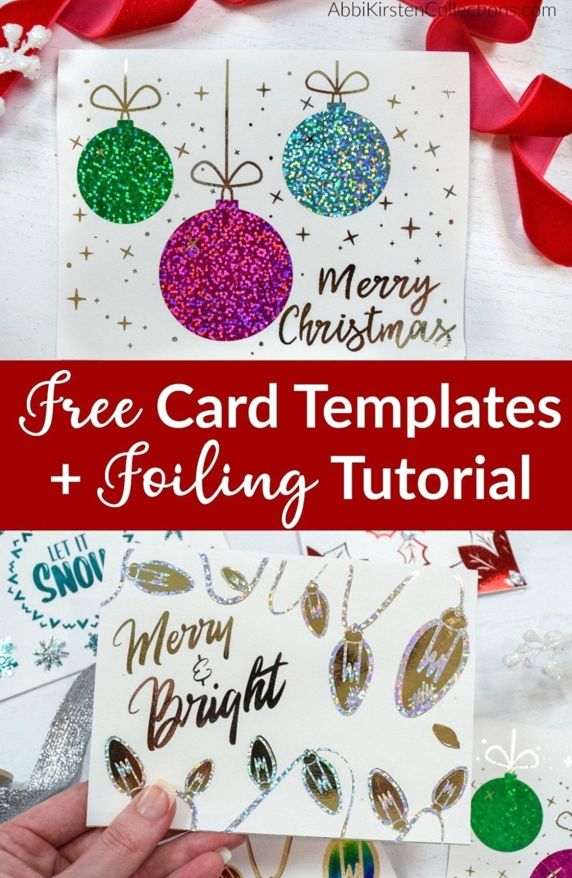 Free Christmas Card Templates Deco Foil Tutorial Christmas Card Templates Free Christmas Card Template Diy Christmas Cards Cricut