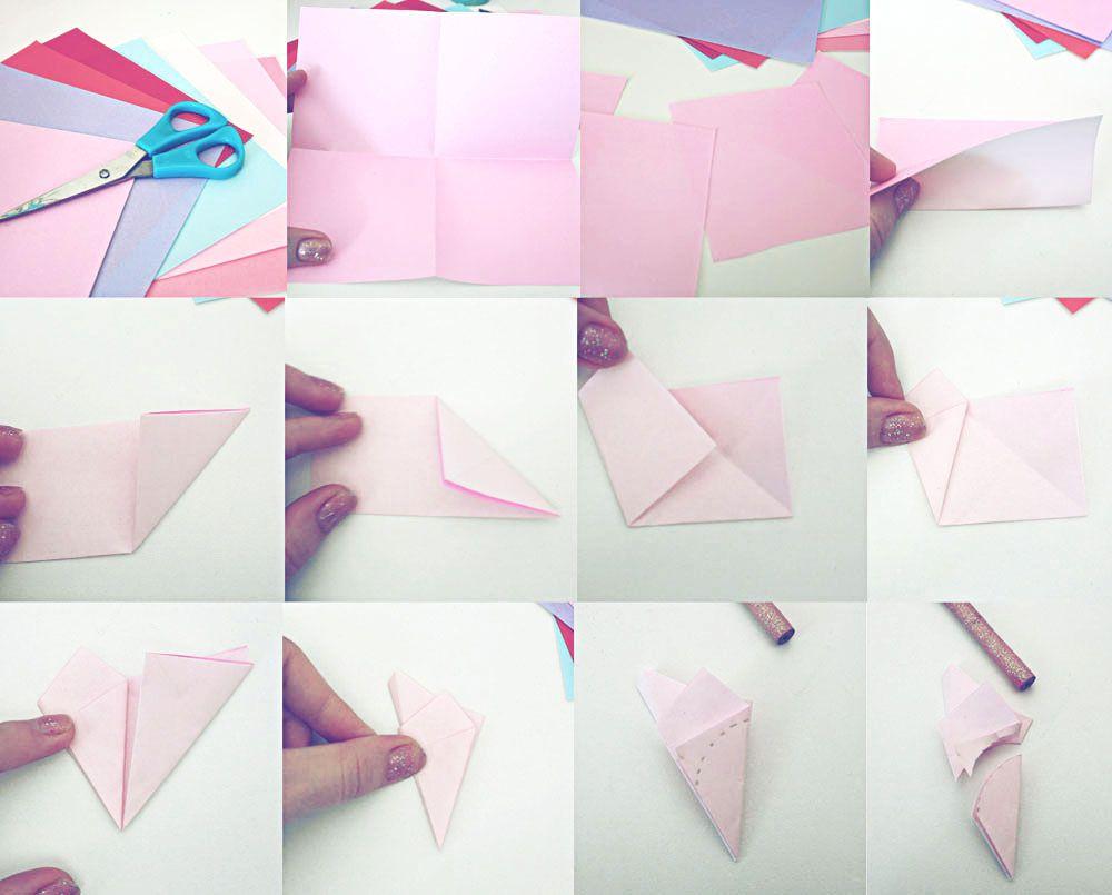 Cherry blossom en kirigami tuto step by step http www for Kirigami paper art
