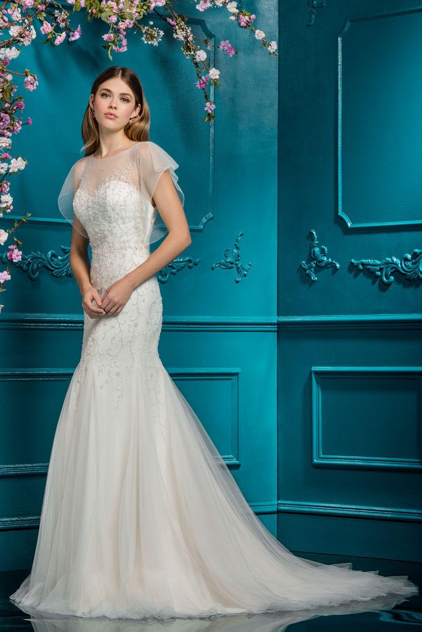 EB 18083 Front   Dresses   Pinterest   Ellis bridal, Beaded top and ...