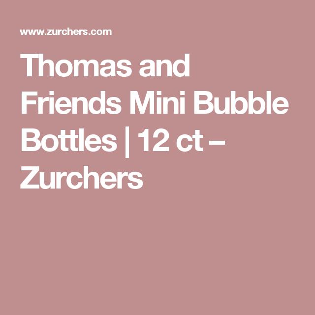 Thomas and Friends Mini Bubble Bottles   12 ct – Zurchers