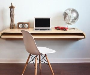 Orange22 created a perfectly thin desk with a perfectly spacious working  surface. A full-