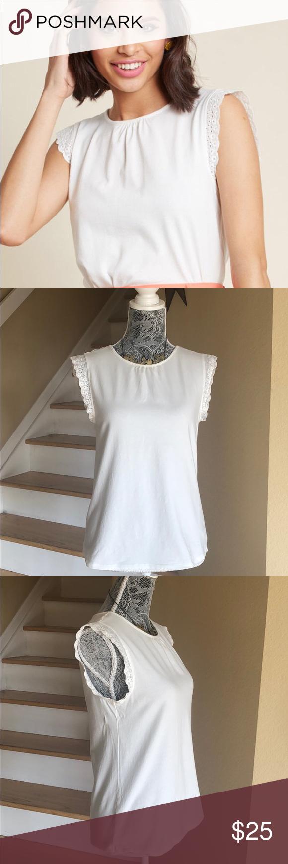 8e46233850c7a5 ModCloth Glam Garnish Sleeveless Top Not your basic tank top! ModCloth Glam  Garnish Sleeveless Knit