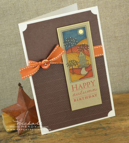 Autumn Birthday Card by Nichole Heady for Papertrey Ink (August 2012)