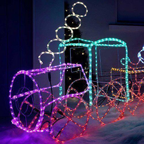 Christmas decoration xmas led train 3d rope light silhouette 110 cm christmas decoration xmas led train 3d rope light silhouette 110 cm large uk aloadofball Images