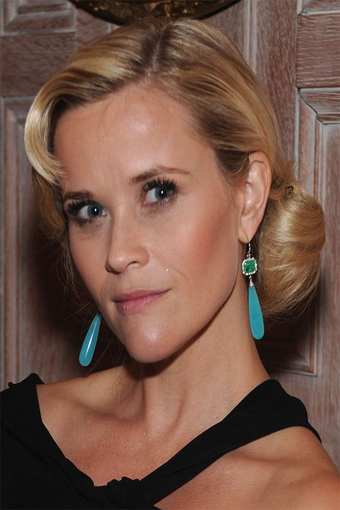 8ba2ff4c7 Reese Witherspoon wearing Irene Neuwirth One of a Kind Earrings with  Emeralds, Diamond Pave and Peruvian Opal Drops