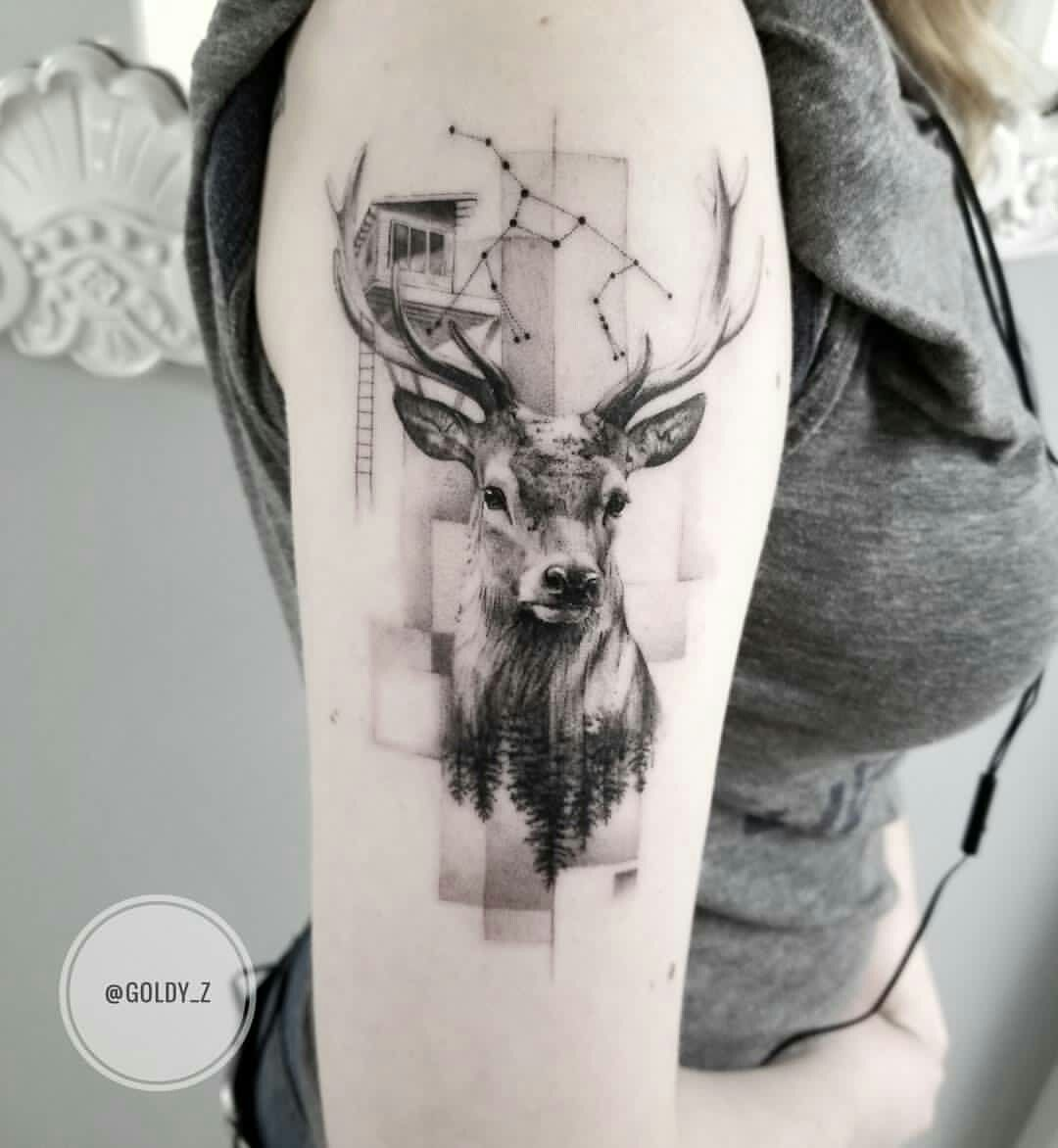 Geometrisches Tattoo Hirsch Nice Hirsch Tattoo 10