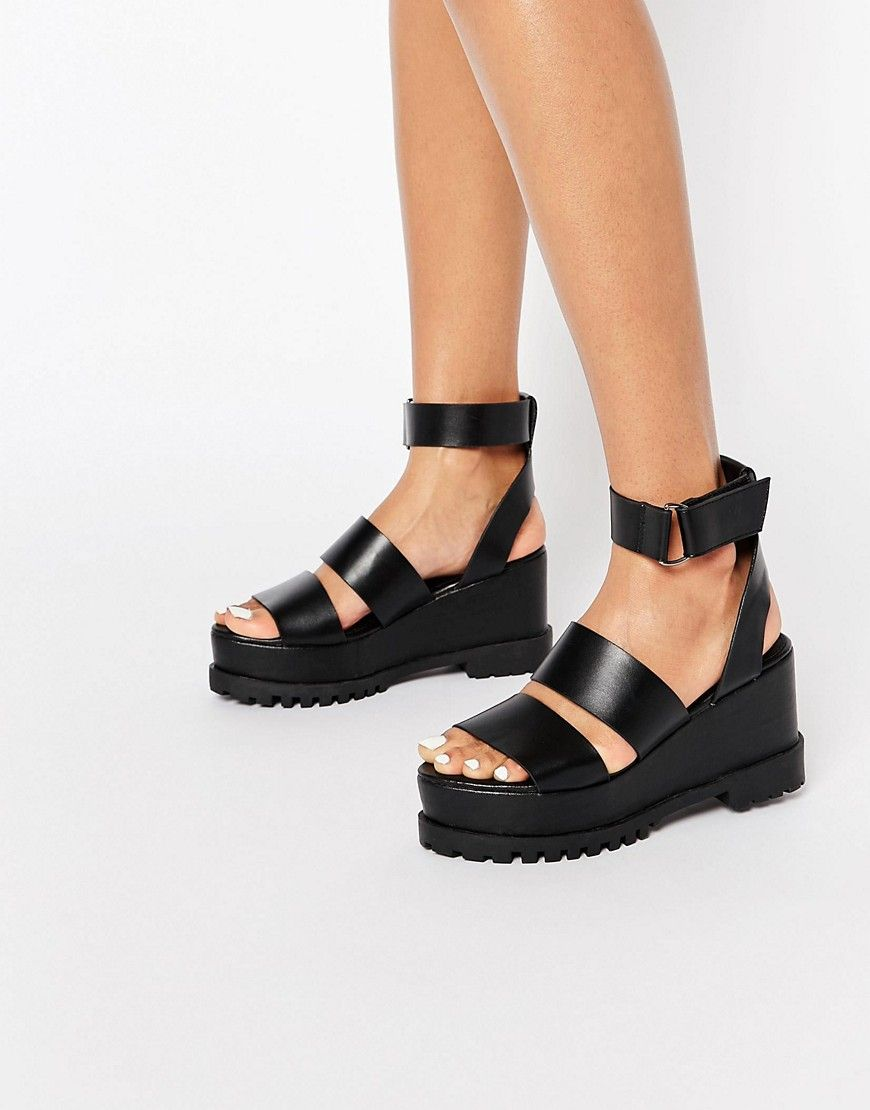 1647198c8e Image 1 of ASOS TEASE ME Chunky Sandals | S H O E S in 2019 | Chunky ...