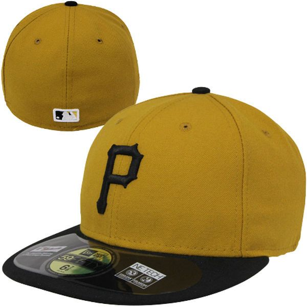 Men s Pittsburgh Pirates New Era Gold Authentic Collection On-Field 59FIFTY  Performance Fitted Hat 1f7226ec95c5