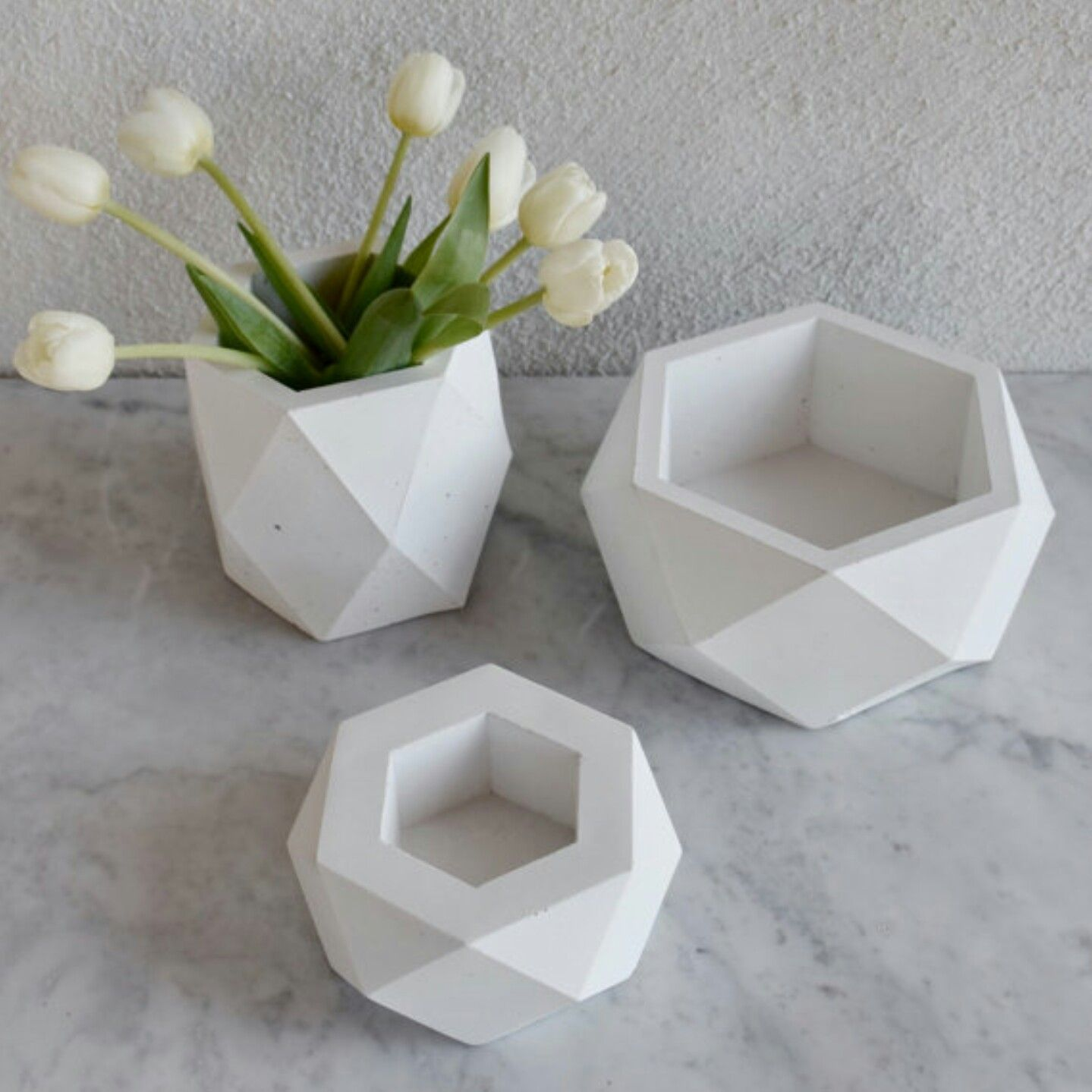 Geodesic Concrete Planter: Geometric Planters Via Etsy