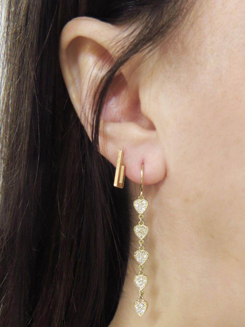b55d7660a0f94 Mini Rectangle Hoop Earrings - Yellow Gold in 2019   Jennifer Meyer ...