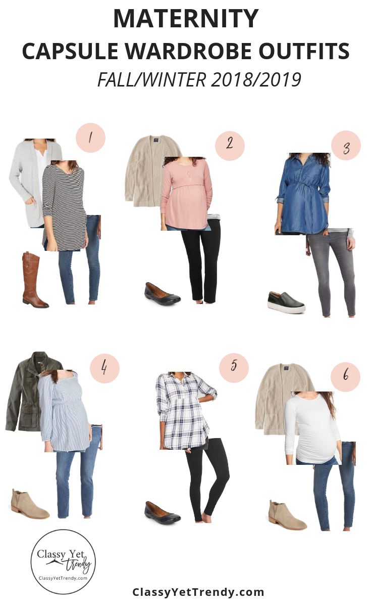 22eef3eeafef7 Maternity Capsule Wardrobe - Fall-Winter 2018-2019 - A complete maternity  capsule wardrobe with several outfit ideas when you are pregnant!