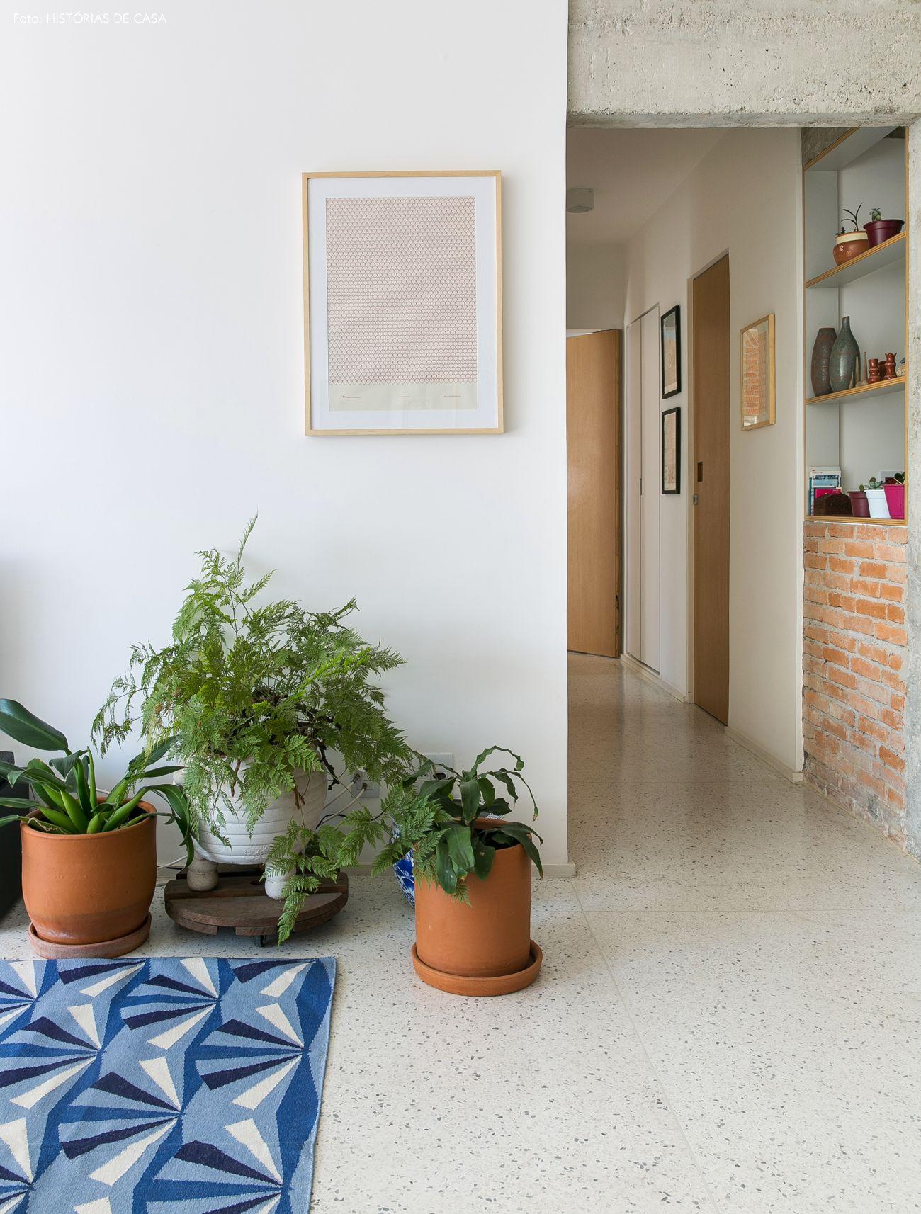 Valor Artesanal Piso De Granilite Granilite E Parede De Tijolos -> Piso Parede Sala