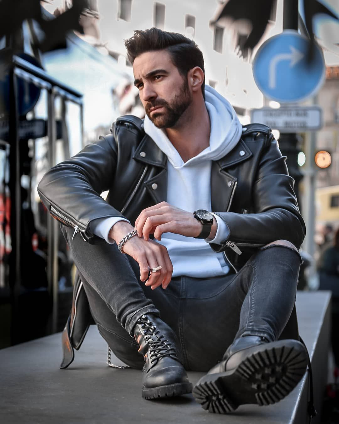 Feeling The Look Biker Today Have A Good Day Everyone Mens Leather Jacket Biker Leather Jacket Outfit Men Leather Jacket Men [ 1350 x 1080 Pixel ]