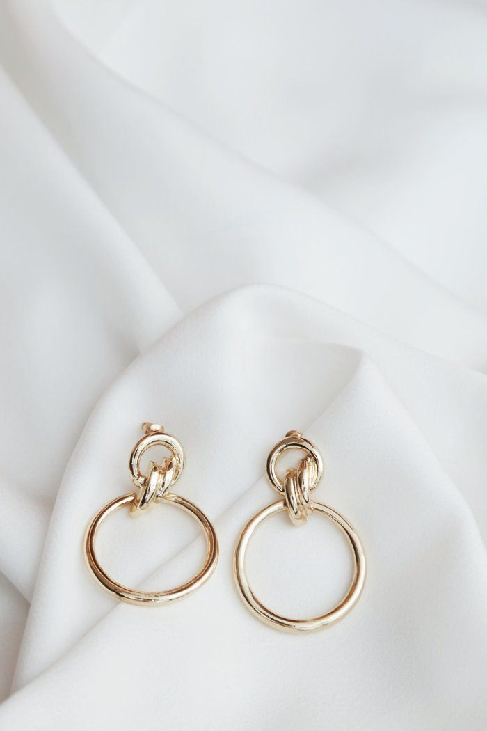 Lanette Earrings (Gold) #dollcare