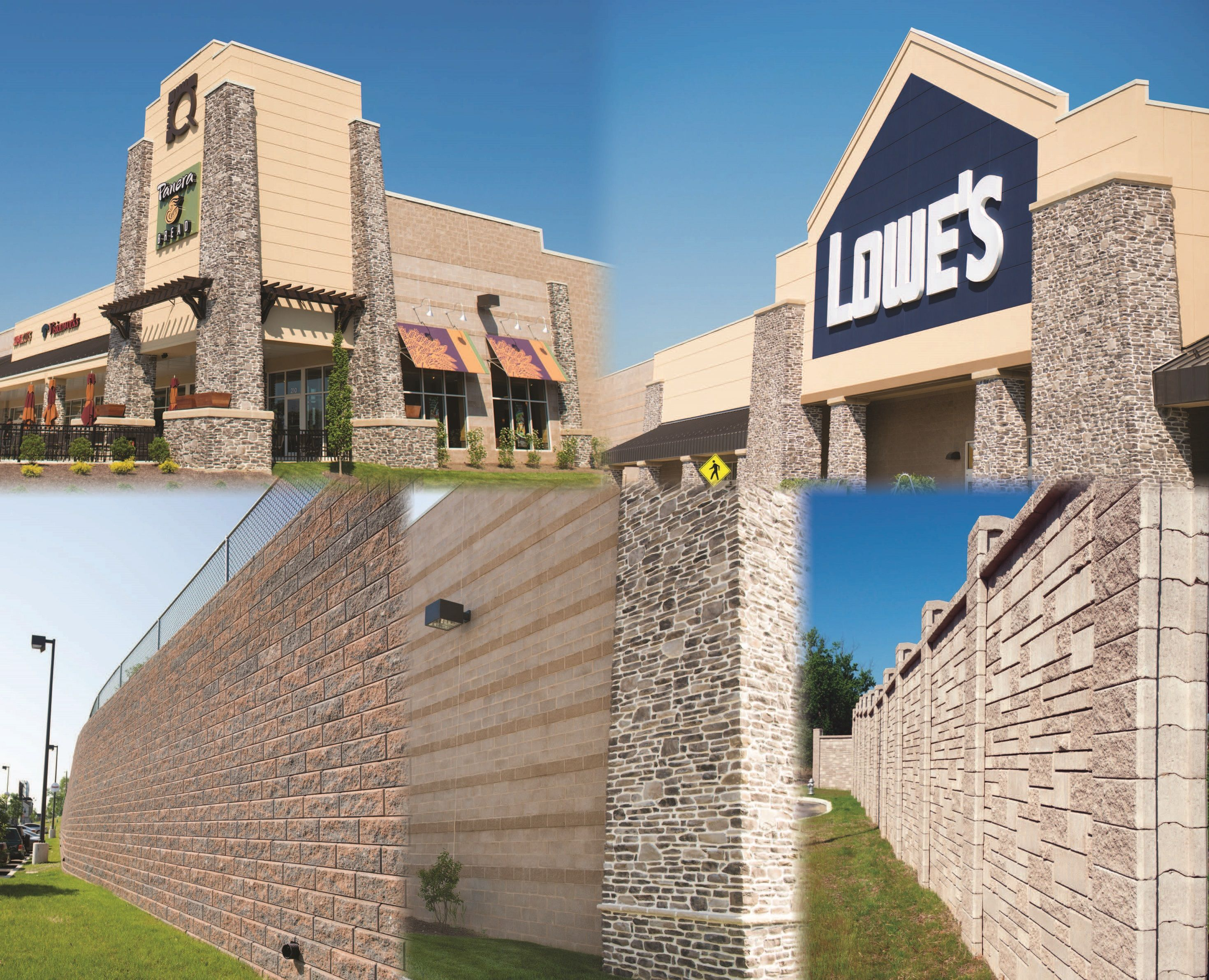 quarry center havertown pennsylvania split face and ground face concrete masonry units - Masonry Block Wall Design