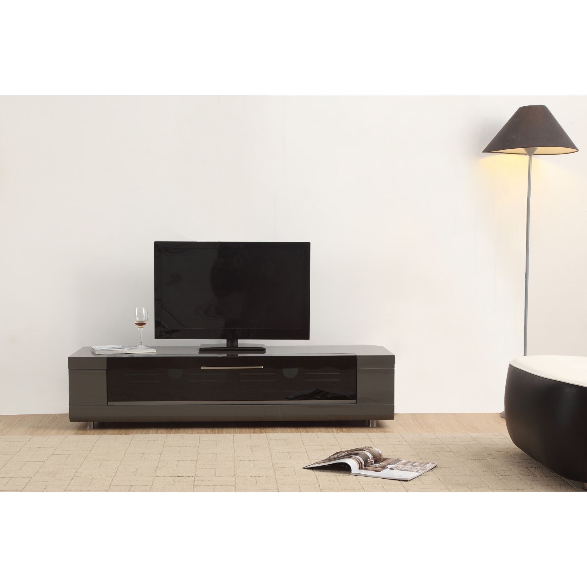 Roma Remix Mini Ir Remote Compatible Grey Modern Tv Stand