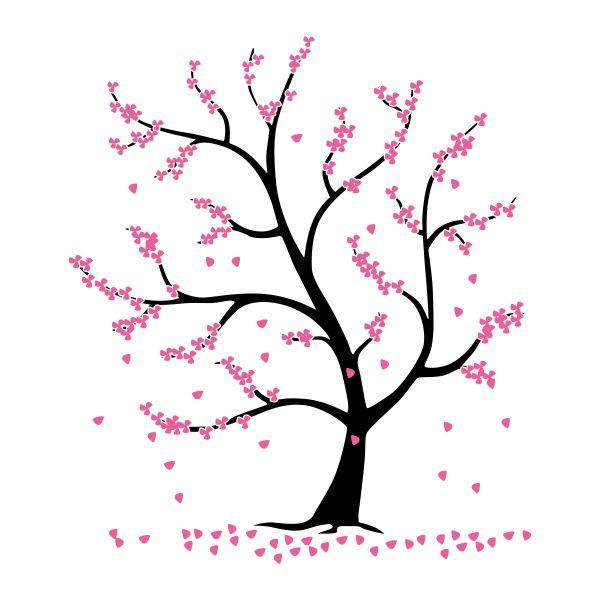 Blossom Tree Cuttable Design Blossom Trees Tree Svg Tree Silhouette