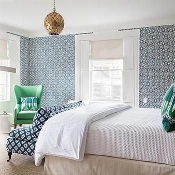 Green Grasscloth In Bedroom Furniture