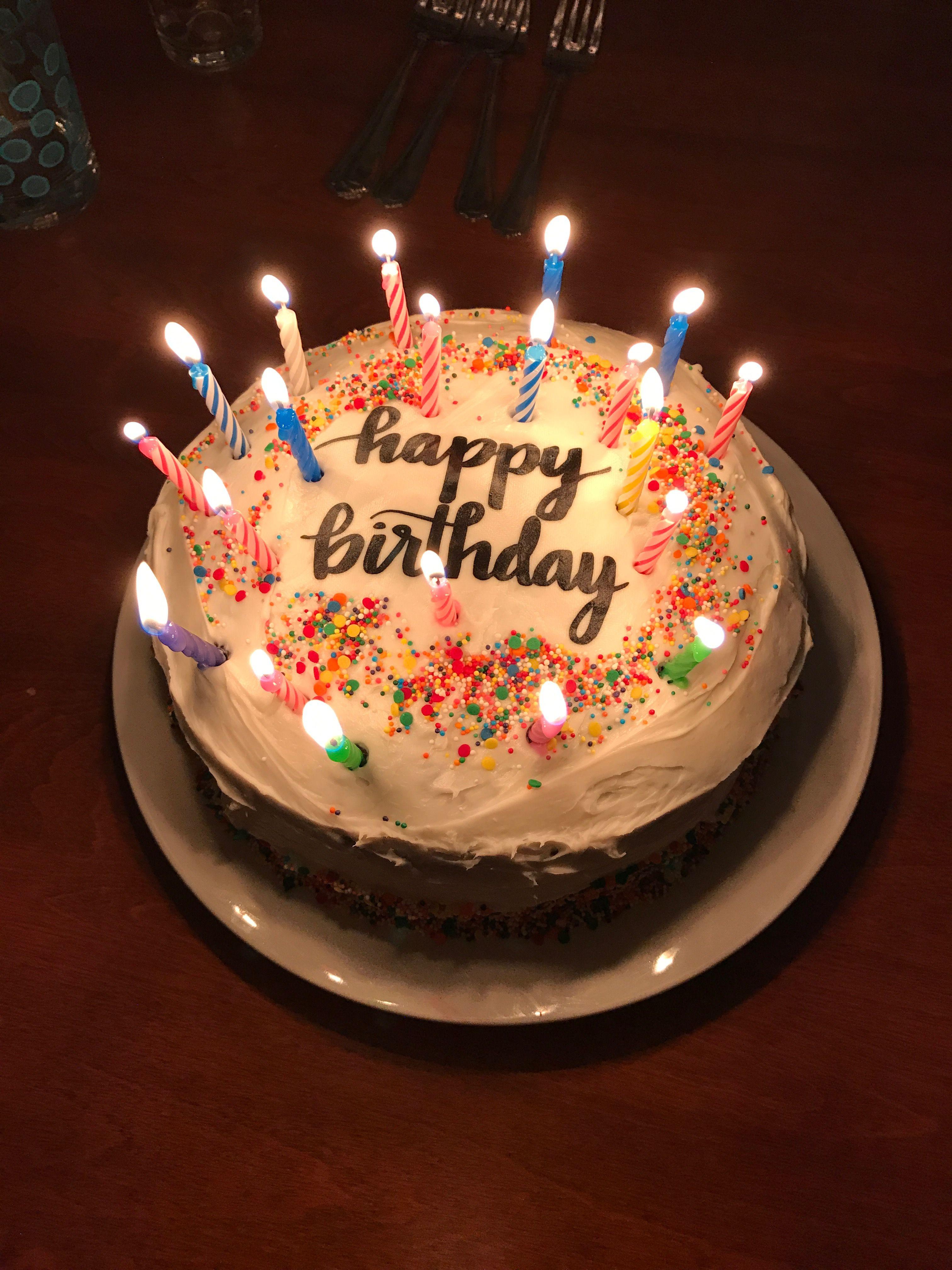 Pin by Kathy's Kitchen on Birthdays Happy birthday cake