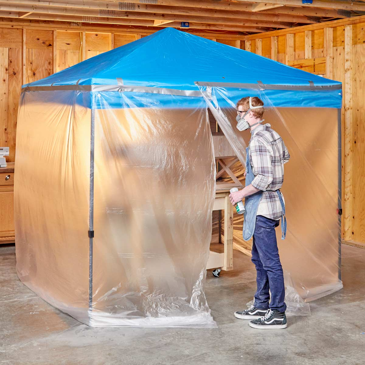 Easy And Roomy Diy Paint Booth Diy Paint Booth Paint Booth Garage Makeover