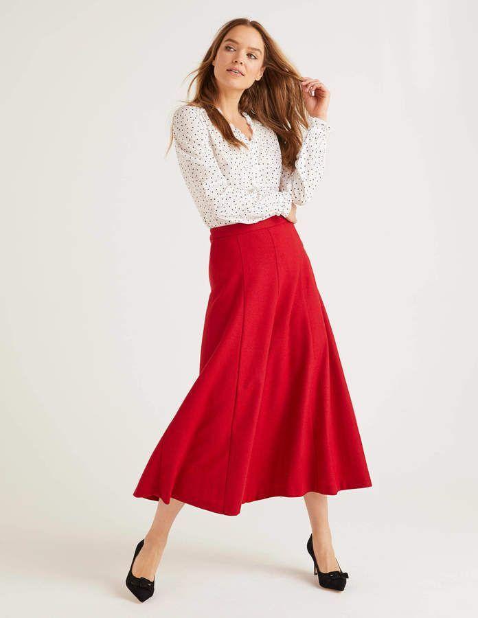 Esme British Tweed Midi Skirt - Grey Melange | Boden US #mittellangeröcke Boden Esme British Tweed Midi Skirt #mittellangeröcke