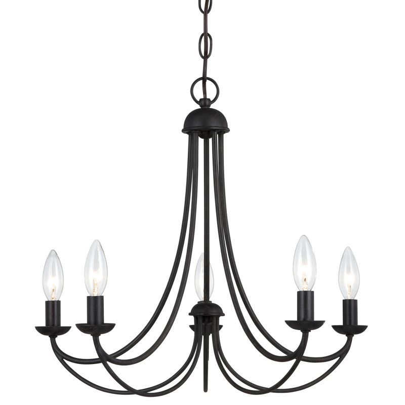 Quoizel mrn5005 mirren 5 light 21 wide candle style chandelier imperial bronze indoor lighting chandeliers