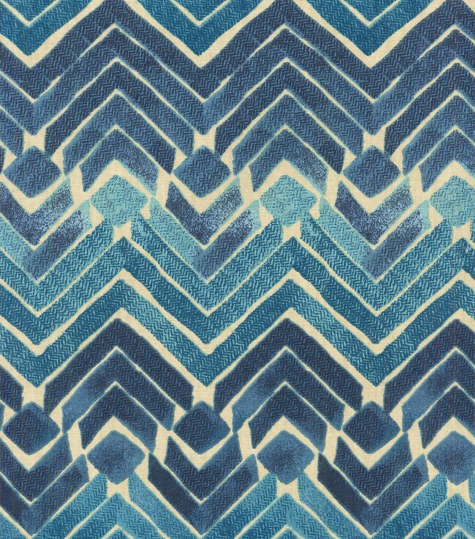 Upholstery fabric geometric design fabric home decor aqua blue - Kelly Ripa Upholstery Fabric Zen Blend Indigo