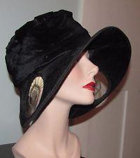 сказочные Edwardian заслонка дамы ширину полей Cloche Hat 1919 к 1922 Грейс шляпы
