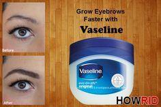 Vaseline und Augenbrauen
