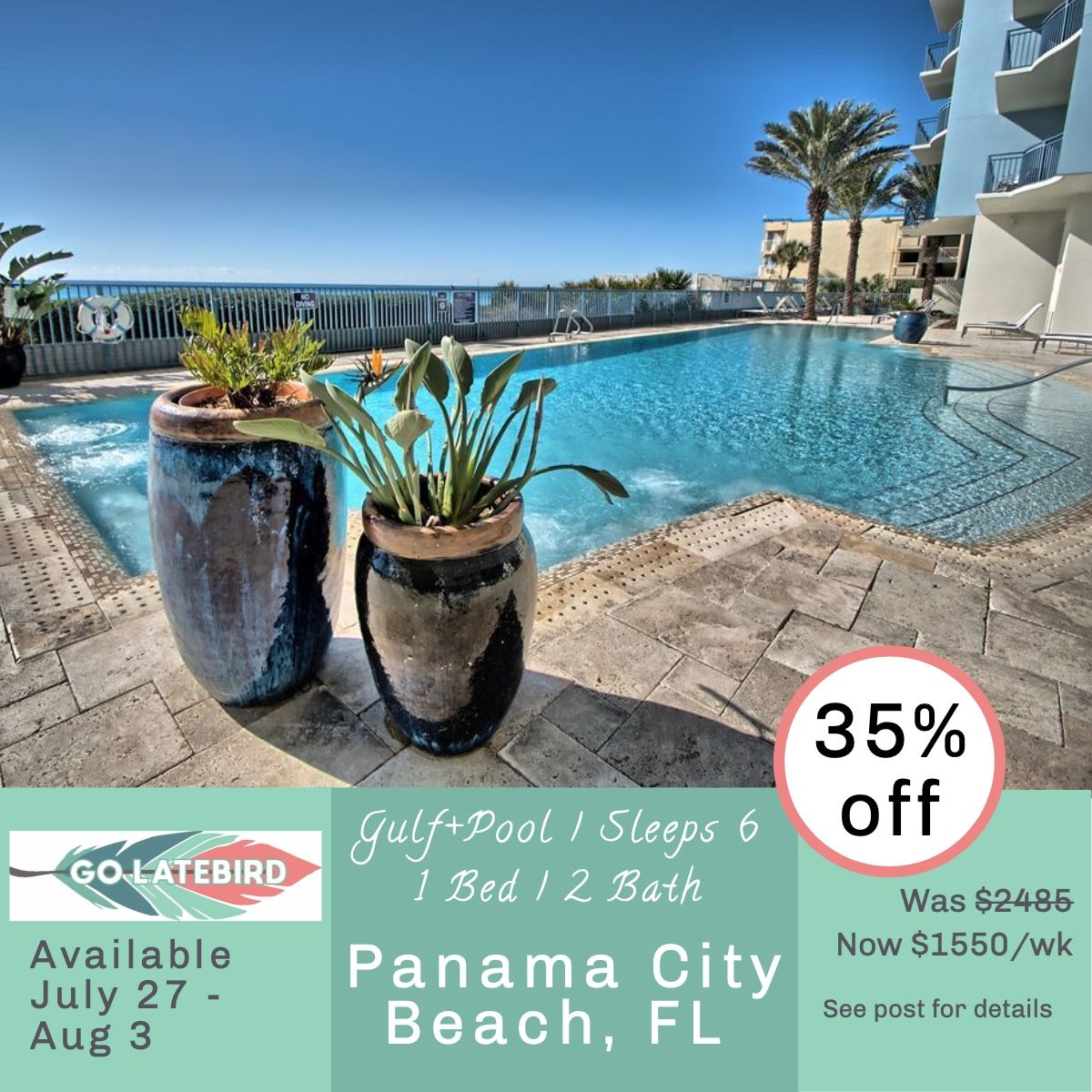 This Is The One Get Yourself To The Beach Gulf Front No Less For Just 1 550 Total For The Panama City Panama Panama City Beach Florida Panama City Beach