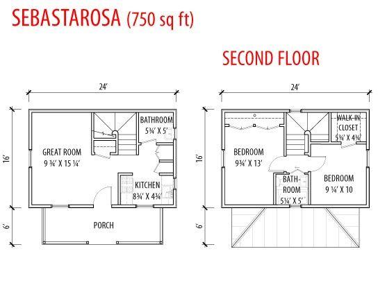 sebastarosa plans 2br 750 sq ft by tumbleweed tiny house company via flickr - 9 Sq Ft Tiny House Floor Plans